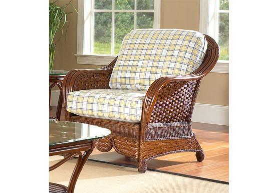 Casa Blanca Rattan Chair   MAHOGANY