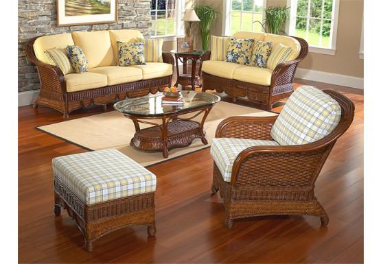 6 Piece Natural Rattan Furniture Set, Casa Blanca Furniture
