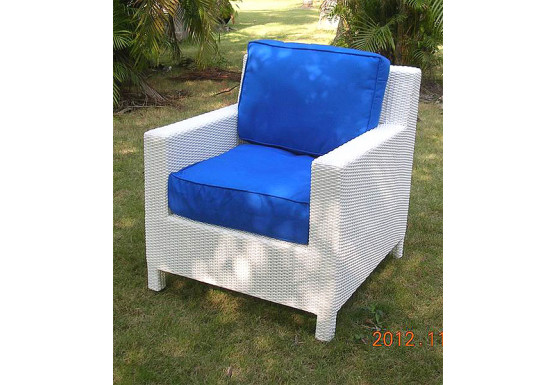 Caribbean Resin Wicker Chair  - WHITE