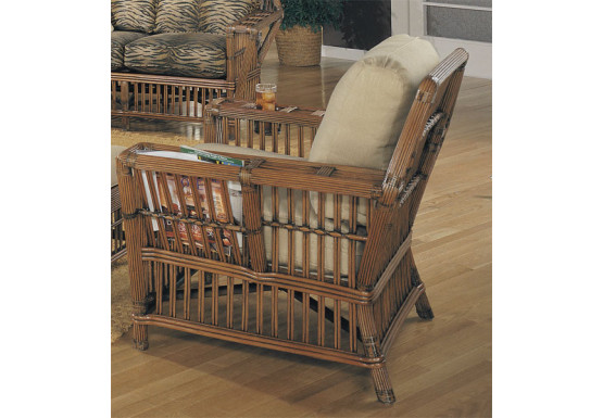 Capistrano Natural Rattan Lounge Chair - COFFEE