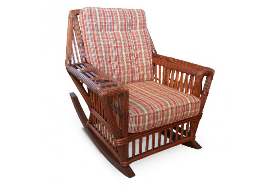 Capistrano Natural Rattan Rocking Chair - COFFEE