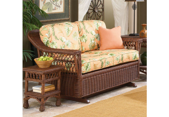 Sea Harbor Natural Wicker Glider Loveseat - Sea Harbor Natural Wicker Glider Loveseat