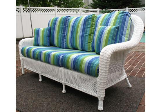 Laguna Beach Resin Outdoor Wicker Sofa  - WHITE