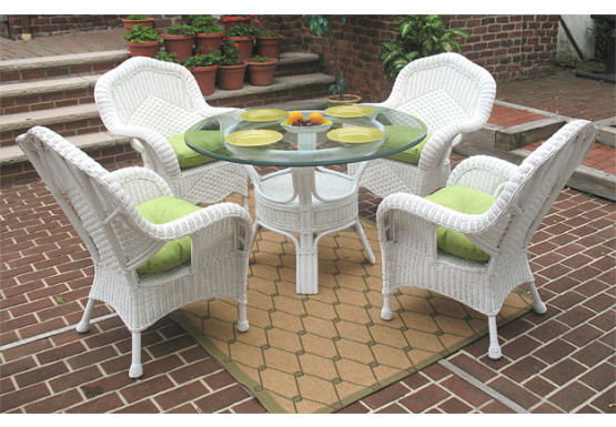 Naples Natural Wicker Dining Set