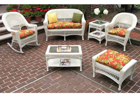 Wicker 3 Piece Belaire Replacement Cushion Set Larger Size