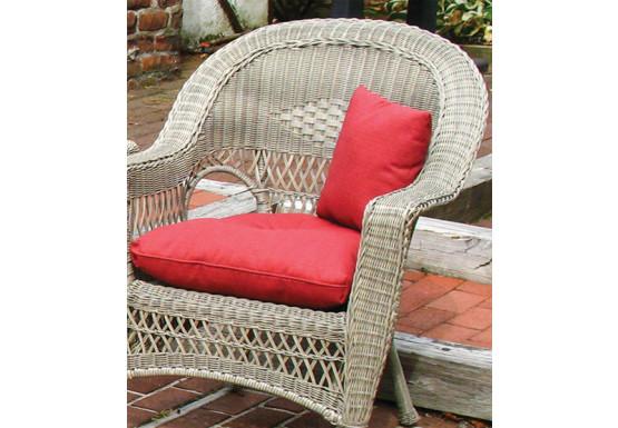 Sunbrella Indoor Outdoor Belaire Chair, Resin Wicker Patio Furniture Replacement Cushions