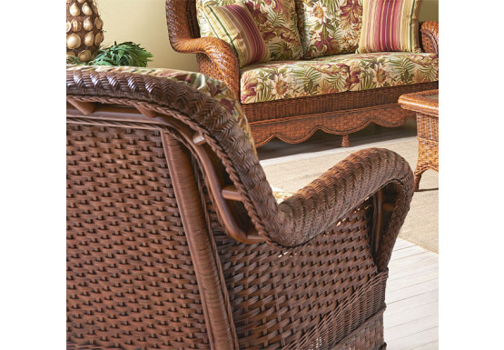 Autumn Morning Rattan Framed Natural Wicker Chair - Autumn Morning Rattan Framed Natural Wicker Chair
