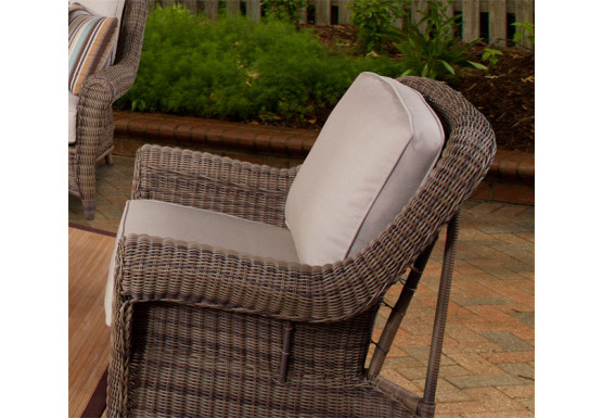 Avignon Outdoor Wicker Lounge Chair with Cushions - WASHED STONE