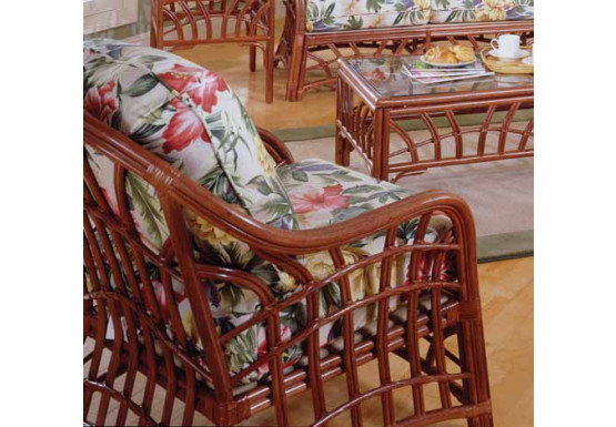 New Kauai Natural Rattan Chair - PECAN