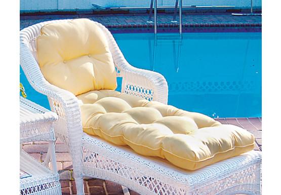 Cushion Only, Sunbrella Fabric Wicker Chaise Lounge Cushion