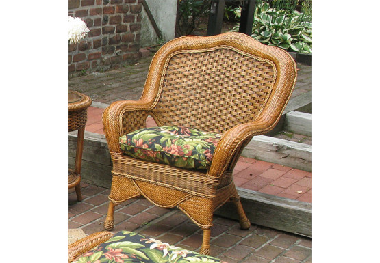 Tangiers Rattan Framed Natural Wicker Chair - TEAWASH