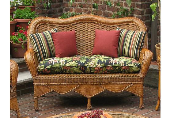 Awe Inspiring Tangiers Natural Wicker Loveseat Short Links Chair Design For Home Short Linksinfo