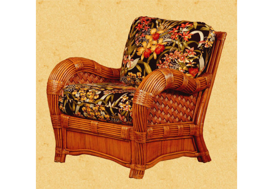 Jamaica Natural Rattan Lounge Chair - Jamaica Natural Rattan Lounge Chair