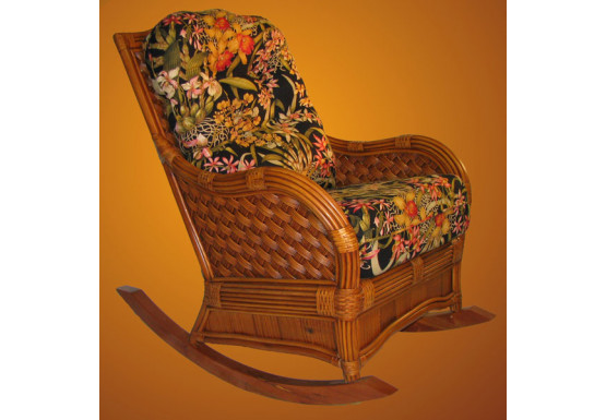 Natural Rattan Jamaica Rocking Chair