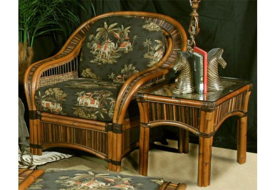 Sanibel Natural Rattan Lounge Chair - Sanibel Natural Rattan Lounge Chair