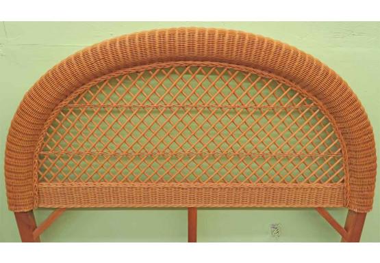 Arch  Full/Queen Wicker Headboard, Caramel - Arch  Full/Queen Wicker Headboard, Caramel