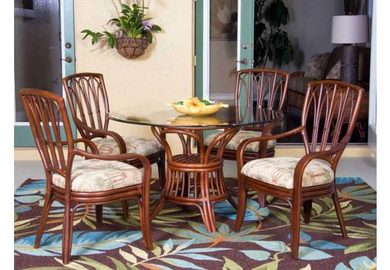 (5) Piece Trinidad Rattan Dining Set (lots of choices) - 4-ARM-SIENNA
