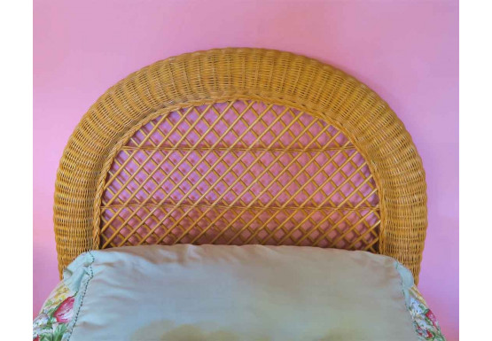 Arch Twin Wicker Headboard - CARAMEL