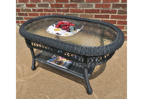 Prime Belaire Resin Wicker Oval Cocktail Or Coffee Table With Glass Top Beatyapartments Chair Design Images Beatyapartmentscom