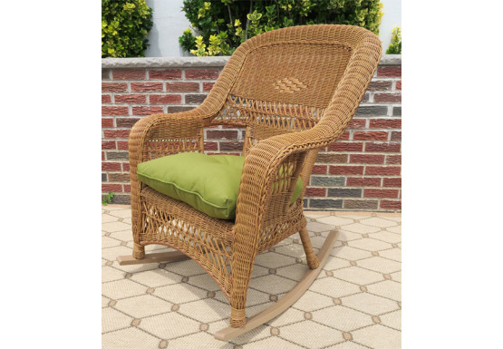 Belair Resin Wicker Rockers  - GOLDEN HONEY