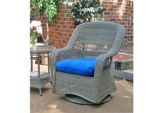 Belair Resin Wicker Swivel Glider Chairs, Driftwood - Belair Resin Wicker Swivel Glider Chairs, Driftwood