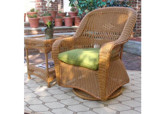 Belair Resin Wicker Swivel Glider Chairs, Golden Honey - Belair Resin Wicker Swivel Glider Chairs, Golden Honey