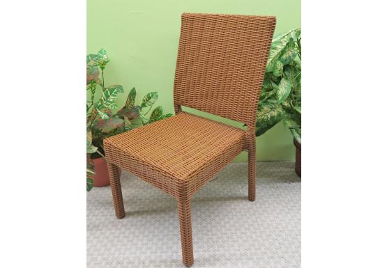 Caribbean Resin Wicker Dining Side Chair - GOLDEN HONEY
