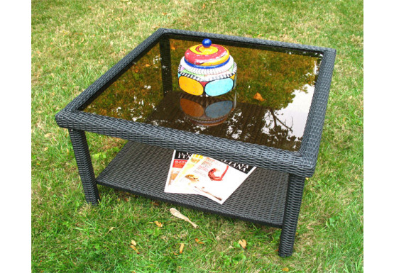 Caribbean Resin Wicker Square Tail Or Coffee Table