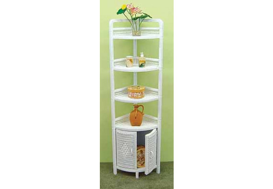 Corner Wicker Bath Cabinet White, White Wicker Bathroom Cabinet