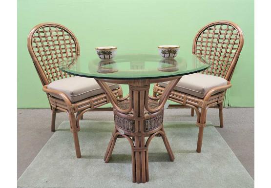 "3 Piece Coronado Rattan Dining Set 36:"" (Side Chairs) Brand New 3 Colors - TEAWASH"