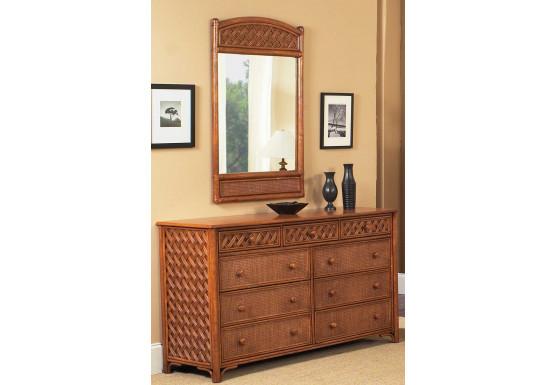 Monte Carlo Rattan 9 Drawer Double Dresser - Monte Carlo Rattan 9 Drawer Double Dresser