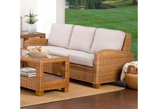 Millennial Natural Rattan Sofa (Custom Finishes Available) - Millennial Natural Rattan Sofa (Custom Finishes Available)