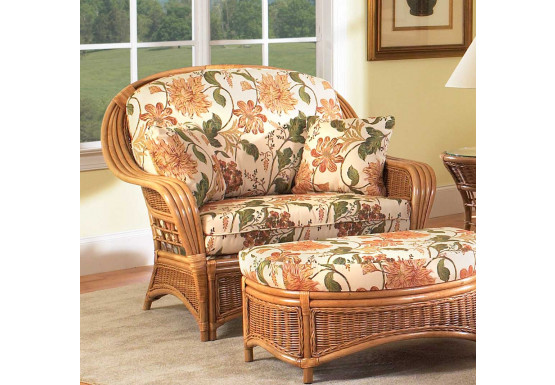 Mountain View Rattan Chair-N-Half with Cushions (Custom Finishes Available) - Mountain View Rattan Chair-N-Half with Cushions (Custom Finishes Available)