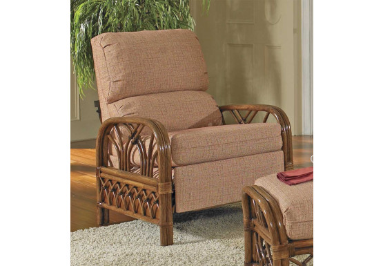 Orchard Park Natural Rattan 3-Position Recliner  (Custom Finishes Available) - Orchard Park Natural Rattan 3-Position Recliner  (Custom Finishes Available)