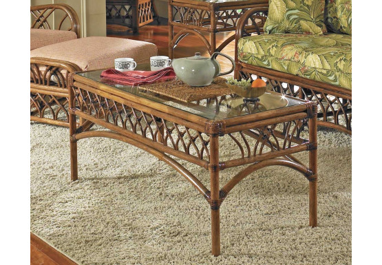 Orchard Park Rectangular Rattan Cocktail Table (Not Sold Alone) - Orchard Park Rectangular Rattan Cocktail Table (Not Sold Alone)