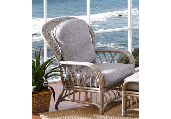 Oceanview Natural Rattan High Back Chair (Custom Finishes Available) - Oceanview Natural Rattan High Back Chair (Custom Finishes Available)