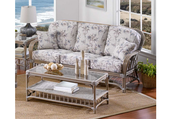 Oceanview Natural Rattan Sofa (Custom Finishes Available) - Oceanview Natural Rattan Sofa (Custom Finishes Available)