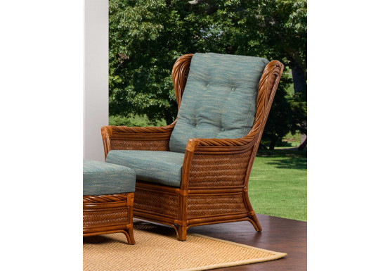 South Shore Natural Rattan High Back Lounge Chair (Custom Finishes Available) - South Shore Natural Rattan High Back Lounge Chair (Custom Finishes Available)