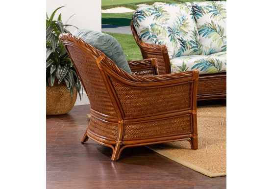 South Shore Natural Rattan Lounge Chair (Custom Finishes Available) - South Shore Natural Rattan Lounge Chair (Custom Finishes Available)