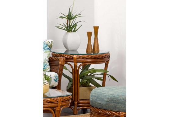 South Shore Round Rattan End Table (Custom Finishes) - South Shore Round Rattan End Table (Custom Finishes)