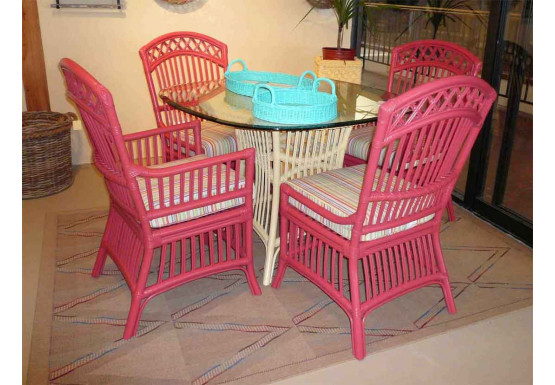 Cottage Dining Set With 4 Side Chairs - Cottage Dining Set With 4 Side Chairs
