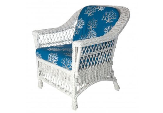 Columbia Wicker Chair - WHITE