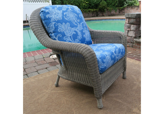 Laguna Beach Resin Wicker Chair  - DRIFTWOOD