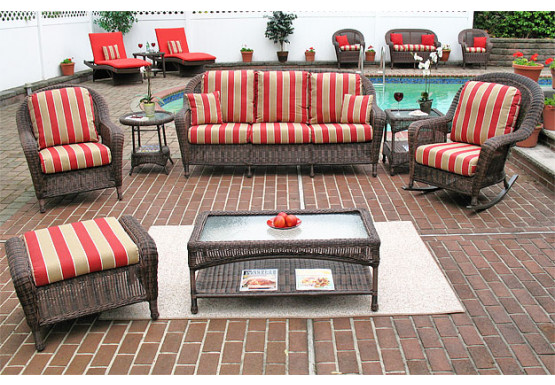 4 Piece Laguna Beach Resin Wicker Patio Furniture With Sofa 2