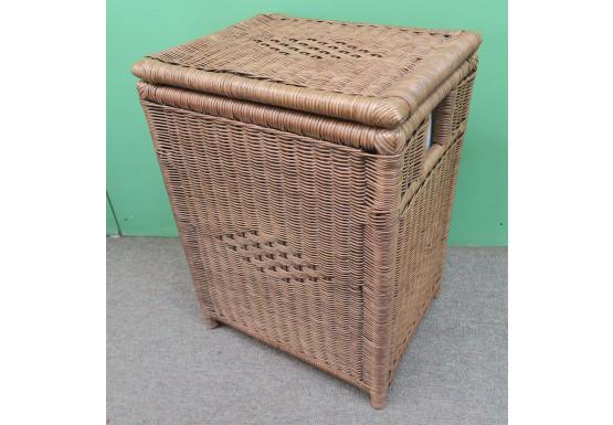 Medium Wicker Hampers, Cloth Lining, Teawash Brown - TEAWASH