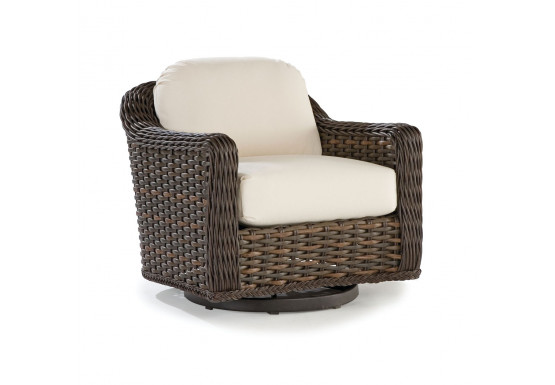 South Hampton Synthetic Swivel Glider Lounge Chair - TUSCAN BROWN