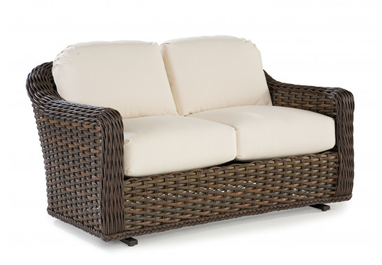 South Hampton Synthetic Loveseat Glider  - TUSCAN BROWN FINISH