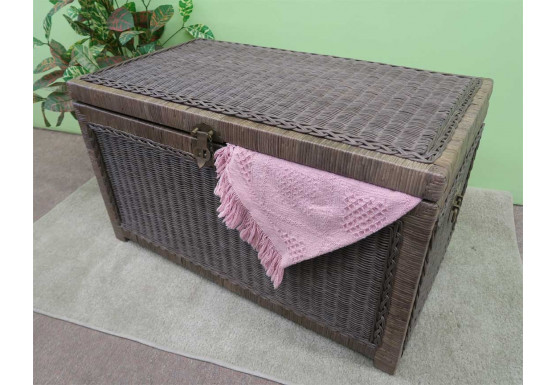 Wicker Trunks or Chests, Large - CHARCOAL