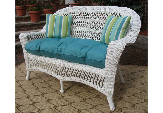 Fantastic Madrid Resin Wicker Loveseat With Cushion Ocoug Best Dining Table And Chair Ideas Images Ocougorg