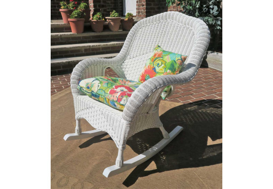 Fantastic Naples Natural Wicker Rocking Chair High Back Spiritservingveterans Wood Chair Design Ideas Spiritservingveteransorg